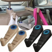 Universal Car Seat Headrest Hanger Hook / Auto plastic hanger hook / car Purse Bag Holder