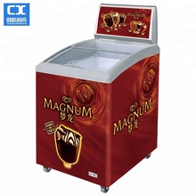 Most popular commercial refrigerated small 158L portable ice cream freezer