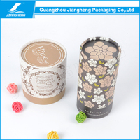 Fashionable Cardboard Round Tea Paper Tube Gift Box packaging