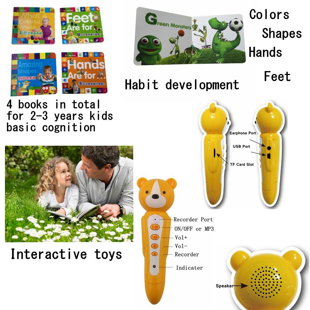 Learning English Books with Talking Pen for Baby