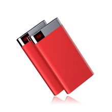 2018 Universal Dual Usb 5V/2.4A Output Fast Charging Portable Rohs Slim Mobile Power Bank 10000mAh