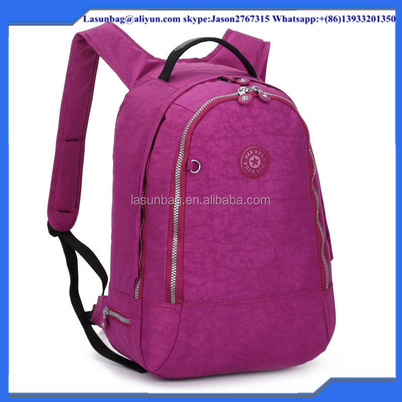 Colorful Fashion Kip Design Washed Nylon Traveling Backpack Sport Backpack