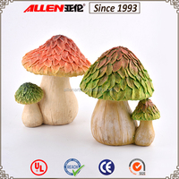 Custom hot sale classy design resin mushroom garden ornaments