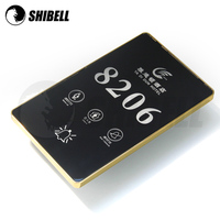 SHIBELL Luxury Hotel Door Plate and Room Number, Touch Panel, LED BackLight