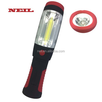 LED Cordless Work Light COB Portable Hand Held Work Lamp With Hanging Hook, Magnetic Holders