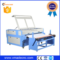 auto feeding 80 100 watts laser cutter/Auto feeding & double head function laser cutting machine for garment industry