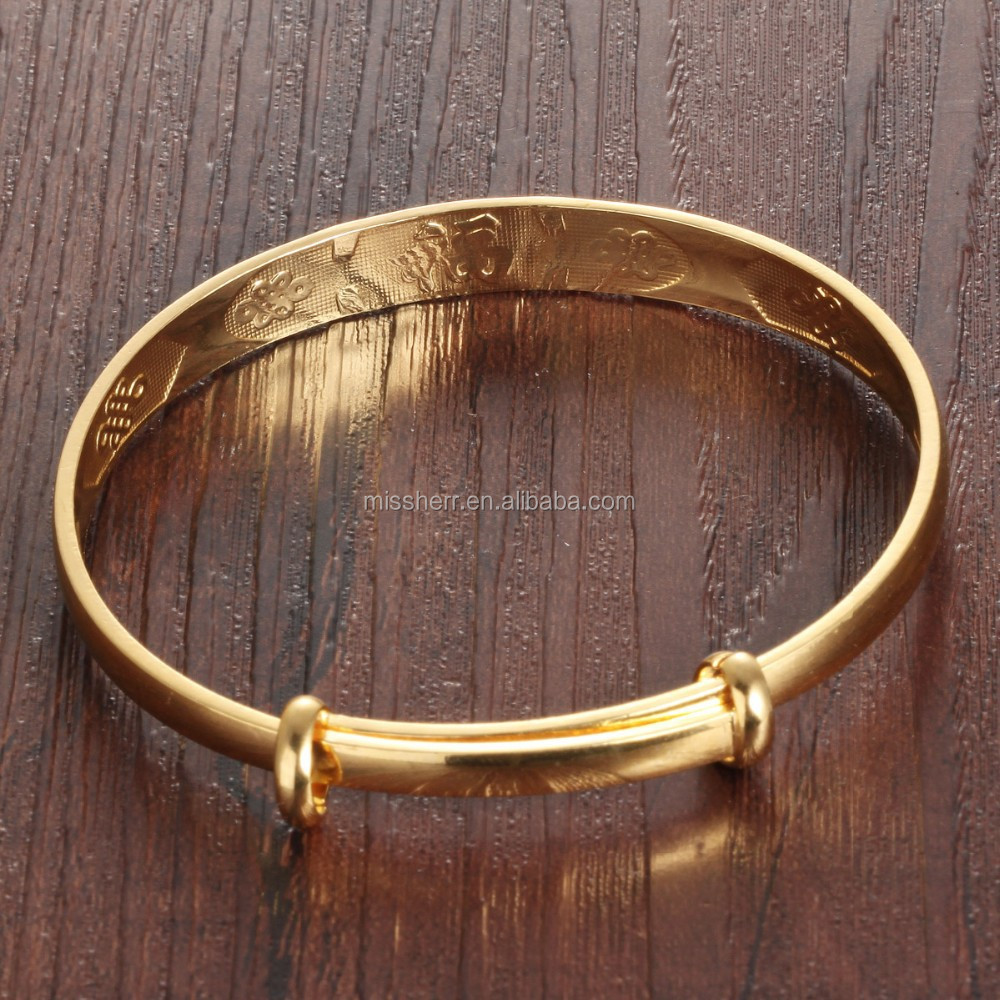 Fahion jewelry bangles wholesale stainless steel gold plated bangles indian gold plated bangles