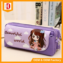 High Quality Cute Girls Cartoon Pen ouch Pencil Case Stationary Bag
