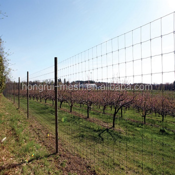Alibaba galvanized and PEE coated 1.8m height crop protection fence