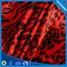 Tricot Animal Printed Velvet Fabric, Wholesale Dyed Polyester Velboa Fabric