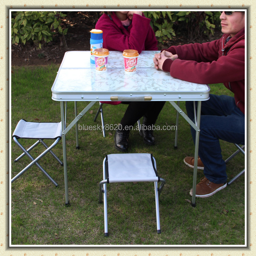 Outdoor Aluminum Folding Picnic Table