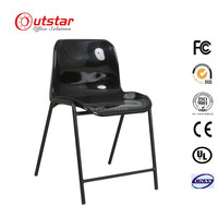 KD Used School Furniture Student Iron Single Seat with Writing Board and Armrest Training Chair