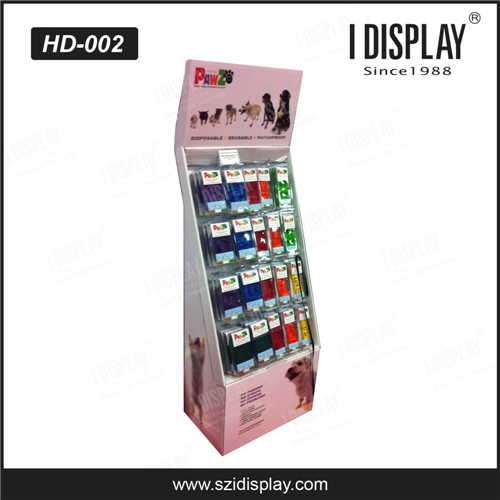 supermarket custom practic cardboard hanging display rack for stockings