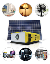 green solar powered generator 220V AC DC 500W wall mounted solar power system