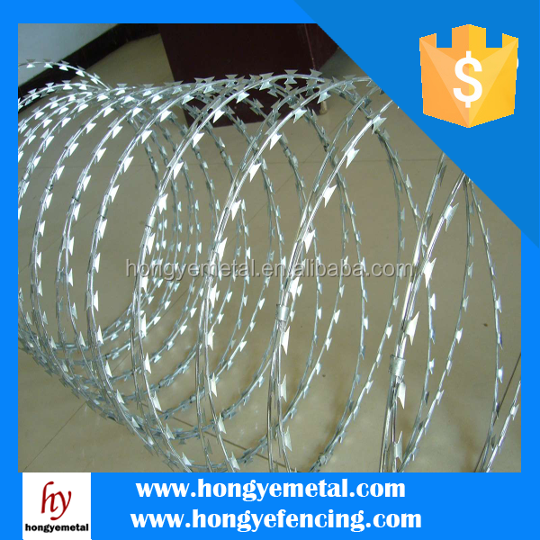 Cross Razor Barbed Blade Concertina Wire/Hot Dipped Galvanized Barbed Wire