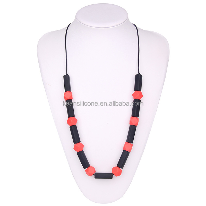 2016 most popular jewelry beads necklace silicone material