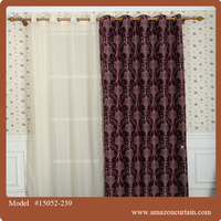 Dolly cutting Jacquard Blackout flower 8 grommets curtain