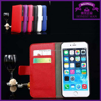 leather flip cases for iphone 6 with card holder phone cases from Guangzhou