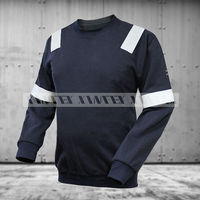 Modacrylic flame retardant sweater shirt