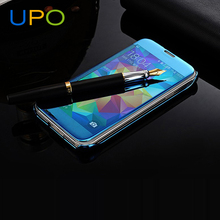 [UPO] Wholesales Luxury Electroplating Mirror clear View Flip Cover phone case for samsung galaxy s5 case