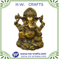 gold hindu goddess ganesh statue decoration