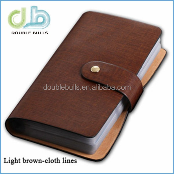 PU / PVC customize genuine leather Business Card Holder / ID Sim Card Holder