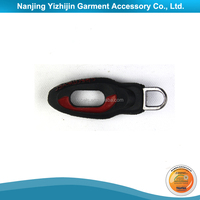 Custom Soft Wear PVC Puller for Zipper with Mini Compass