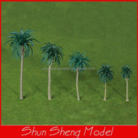 SP-26 Model Plastic Middle Minature Green Palm Tree 80mm