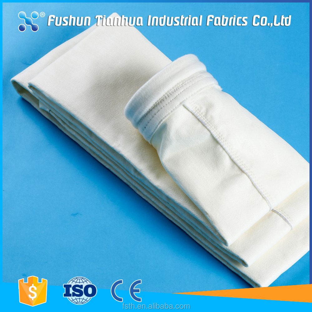 Polyester dust collector filter bag for lead smelting roasting process