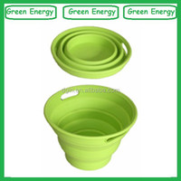 Eco-friendly silicone collapsible bucket,rubber bucket