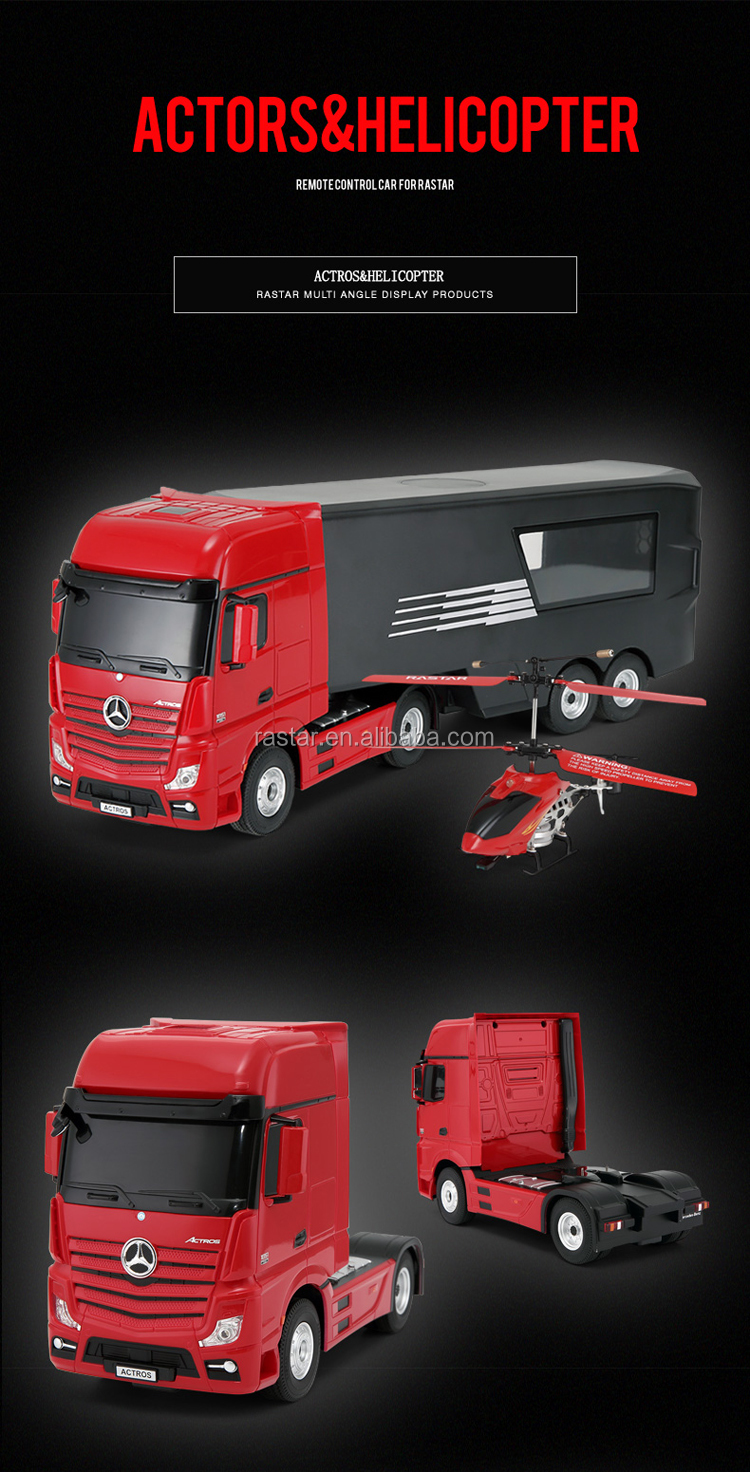 MERCEDES toy car kit Rastar rc container truck rc helicopter