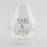 Murano Glassware art Deco Glass Lampwork Hand blown hollow flower Crystal golden letters Bottle Vase
