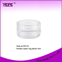 NT-58 high quality 10g New Round Clear Plastic Craft/Bead Storage Container Box