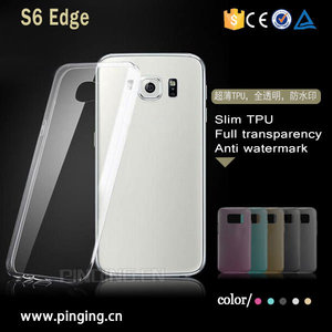 For Samsung Galaxy S6 Edge Plus Case Slim Ultra Thin Transparent Crystal Clear TPU Back Cover