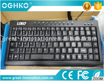 2016 wholesale custom logo hot sale multimedia wired computer keyboard for PC