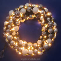 Led light Decorative Christmas Garland and Wreath