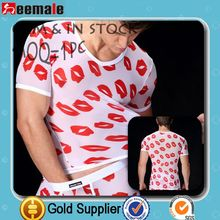 New Arrival 2014 Transparent Sexy South America Men Seamless Underwear Printing Lip Man Underwear SM29-1