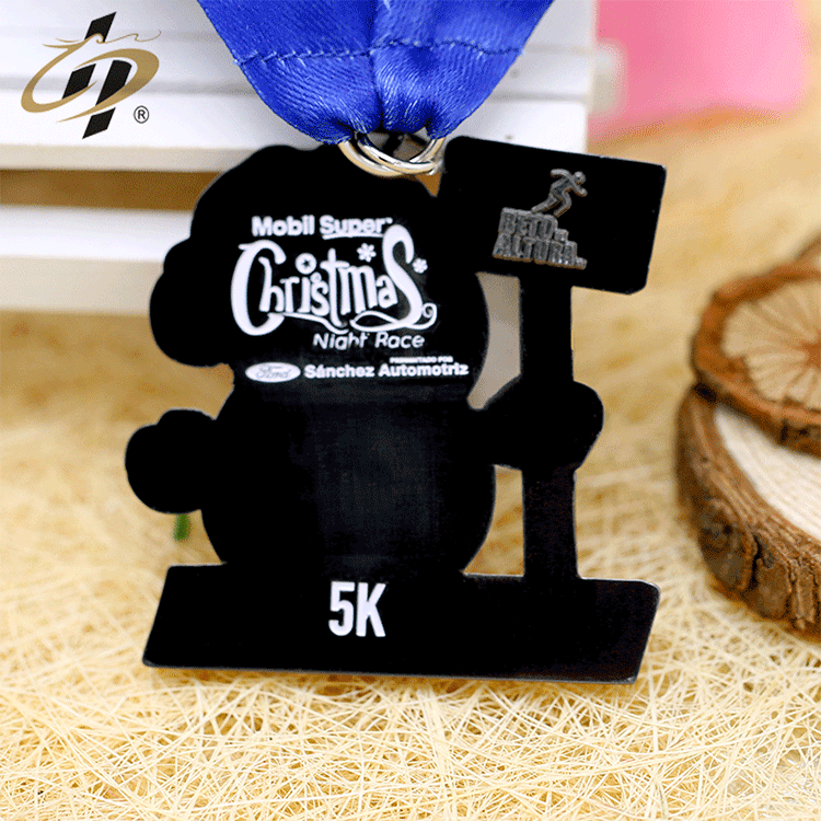 Custom own design marathon sports metal medallion medal