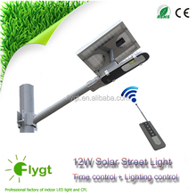 6w 10w 12w magnetic induction solar power energy street light pole LED outdoor garden all in one solar street light