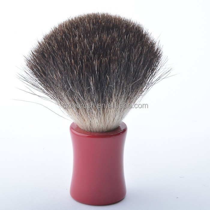 High Quality Badger Hair Heads Metal Handle Shaving Brushes red handle