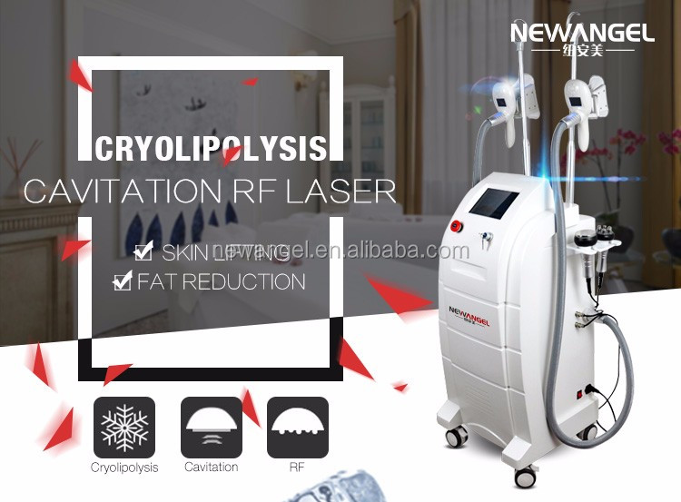 4 in 1 cryolipolysis fat cavitation skin rf cold therapy fat removal home use