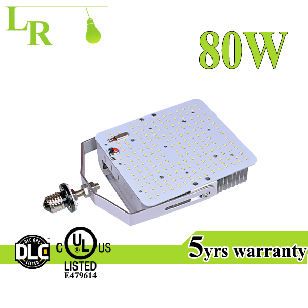 Wires base 150lm/w UL DLC 80W street light LED retrofit kit replace 275-300w MH/HPS lamp