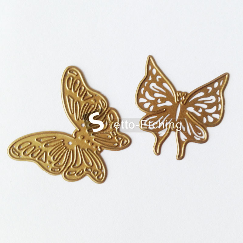 Butterfly embossing stencil for card crafts