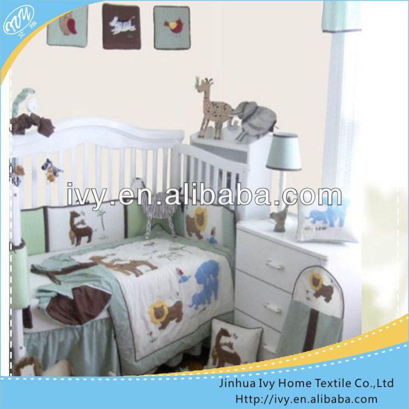 100 cotton kids patchwork round crib bedding