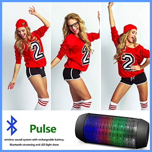 <strong>Portable</strong> out door wireless mini Colorful 360 LED light super bass stereo bluetooth speaker Support NFC and TF card speaker