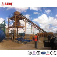 Stationary concrete mixer HZS60 belt and full-sealing type concrete plant,mix high quality concrete