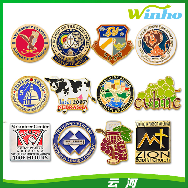 Winiho Custom Classic Embossed Lapel Pin Badge