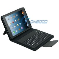 Gift Black Bluetooth Wireless Keyboard + Leather Case For iPad Mini