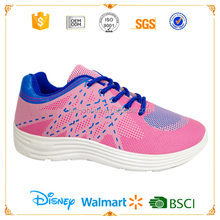 Pink color girls simple shoes cheap sport shoes