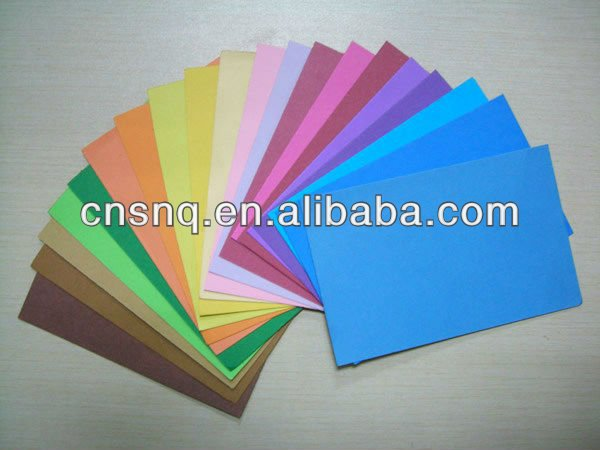 color paper and paperboard